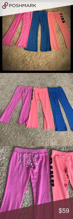 PINK sweats bundle szXS 3 pair of PINK VS sweats. All size XS. Good condition PINK Victoria's Secret Pants