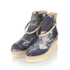 new products 3e3fd 27bca gram shoes and studio lisa bengtsson collaboration. 503g platform in fabric  cloudy with navy turtle