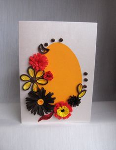 Quilling Easter Cards (2) - Felicitari de Paste  This week I worked hard on these.I kept the pattern, with slight differences here and there...