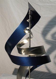 metal art sculptures | Modern Metal Art Sculpture - SS1 Blue