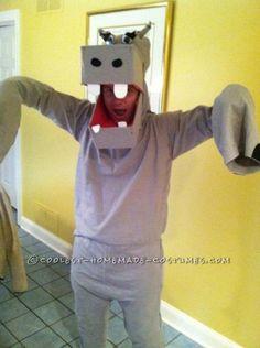 Original Homemade Hippo Halloween Costume