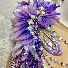 Swimsuit details from leotards olimp Catsuit, Rhythmic Gymnastics Costumes, Wedding Headdress, Mardi Gras Costumes, Ice Skating Dresses, Ballroom Dress, Purple Butterfly, Fabric Manipulation, Quinceanera Dresses