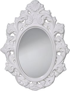0-034640>Resplendent Oval Mirror HI Gloss White