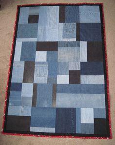 quilt- I like the random pieces.  Definitely NOT denim.