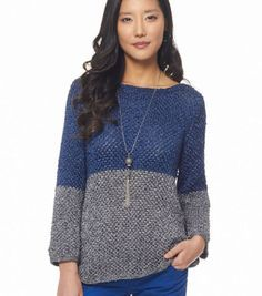Easy Knitting Pattern: Metallic Color Dipped Top | Jo-Ann Fabric and Craft Store
