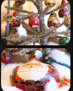 Lucuma gourd ornaments are a unique and personal way to give the perfect gift this year #HolidayDecor #ChristmasGifts #PenfieldNy
