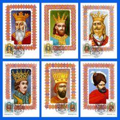 MOLDOVA. Moldovan Rulers - 1995. Official Maximum Cards set (6 pcs)