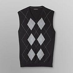 Structure- -Men's Sweater Vest - Argyle