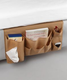 organize | Great idea for the kids to keep their book and tablet in at night so they don't have to get out of bed