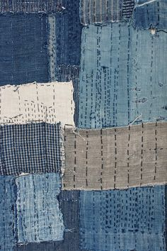 Born out of necessity and coincidence  – Boro is creating new uses for discarded textiles by layering pieces of cloth, attaching them together with sashiko stitching and patching them with a diversity of cloths in a freely artistic way. Best kind of recycling.