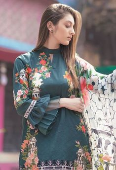Stunning and Unique Sleeves Designs for Dresses - Kurti Blouse Sleeves Designs For Dresses, Dress Neck Designs, Stylish Dress Designs, Sleeve Designs For Kurtis, Simple Pakistani Dresses, Pakistani Dress Design, Pakistani Outfits, Pakistani Fashion Casual, Indian Fashion Dresses