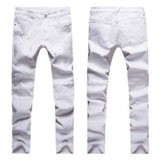 Fashion Men Jeans New Arrival Design Slim Fit Fashion Jeans For Men Good Quality Blue Black Y2031