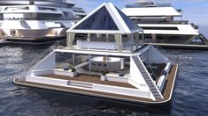 Floating Architecture, Japanese Architecture, Architecture Design, Sustainable Architecture, Residential Architecture, Casa Bunker, Pyramid House, Floating Hotel, Floating Cities