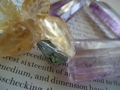citrine & amethyst up close by leidayjewels.....this bar bracelet is now happy @ home @ the top of la jolla