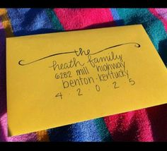 Such a cute way to address letters