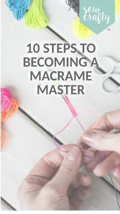 Macrame is so hot right now and we're totally addicted. There's some fantastic macrame kits out there, but to get started why not grab any yarn, string, thick thread or twine you have lying around and try some of these! <3