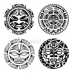 Satz von polynesischen tattoo — Stockvektor