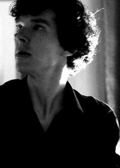 "icarvsremovals: "" Sherlock in black+white 34 / ∞ "" Sherlock Holmes 3, Sherlock Series, Sherlock Holmes Benedict Cumberbatch, Benedict Sherlock, Damon Albarn, Detective, 221b Baker Street, John Watson, Johnlock"