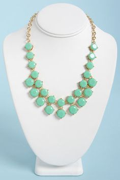 Your gal pals will be begging to borrow the Loan Me a Stone Mint Green Statement Necklace! A string of faceted rhinestones dangle a row of larger rhinestones. Mint Necklace, White Statement Necklaces, Turquoise Necklace, Beaded Necklace, Pendant Necklace, Mint Gold, Mint Green, Emerald Hair, I Love Jewelry