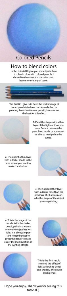 Colored Pencils - Blending Tutorial by S-Baptista-. Colored Pencils - Blending Tutorial by S-Baptista-Art on DeviantArt by therese. Colored Pencil Tutorial, Colored Pencil Techniques, Colouring Techniques, Drawing Techniques, Painting & Drawing, Watercolor Painting, Watercolor Tips, Watercolor Tutorials, Pencil Drawings