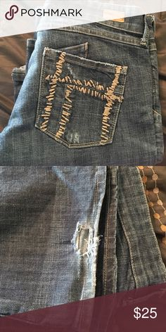 See Thru Soul Jeans Hole at bottom hem of one leg. Great pair of jeans Jeans
