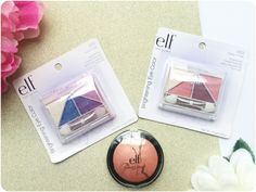 F COSMETICS ♥ E.F Essential Brightening Eye Color Eyeshadow in Punk Funk (purples and blues) and Pretty in Pink (pinks and neutrals) ♥ E.F Studio Baked Blush in Peachy Checky Elf Studio, Baked Blush, Eye Color, Pretty In Pink, Blues, Eyeshadow, Punk, Cosmetics, Purple