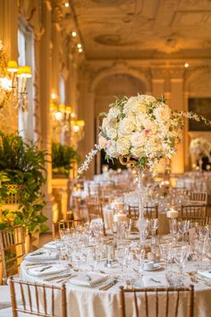 This Newport, Rhode Island wedding from Details with Love and Christian Oth Studio is full of the most glamorous details like a Carolina Herrera wedding dress, the Rosecliff Mansion setting, calligrap. Wedding Venue Decorations, Wedding Themes, Wedding Dresses, Wedding Ideas, Wedding 2017, Wedding Details, Wedding Decor, Wedding Stuff, Wedding Inspiration