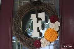 Pinterest inspired DIY wreath