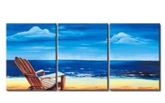 Mediterranean Sea, Seashore Painting, Landscape Painting, Large Painti – Silvia Home Craft Art Painting, Landscape Paintings, Hand Painting Art, 3 Piece Wall Art, Painting, Large Painting, Art Deco Paintings, Seashore Paintings, 3 Piece Canvas Art
