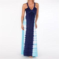 Sky Women's Contemporary Iolani Maxi Dress #VonMaur #Sky #Navy #Blue #TieDye