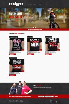 We design for Edge Cycle Wear Portfolio Web Design, How To Get, Messages, Life, Text Conversations