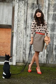 Forever-21-sweater-jcrew-purse-thrifted-vintage-skirt-h-m-pumps