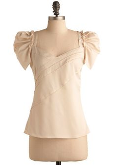 Cream of the Tops Blouse. You're only satisfied with the very best of the best, so it's a given that you've got quite a discerning eye when it comes to fashion. #cream #wedding #modcloth