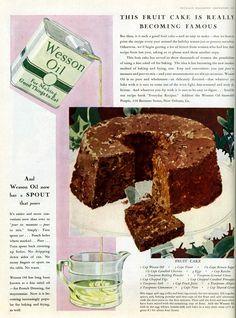"Fruit Cake Recipe from ""McCall's Magazine"" | December 1929"