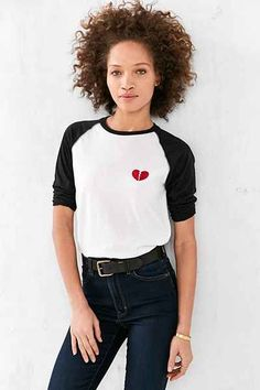 Camp Collection Lonely Hearts Baseball Tee - Urban Outfitters #lonelyheartsclub #CAMPxUO #campcollection