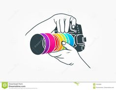 Illustration about An illustration represent photography logo, camera concept design isolated in grey background. Illustration of aperture, design, abstract - 70433891 Design Room, Design Studio, Camera Logo, Camera Art, Black Background Images, Photo Background Images, Photography Logo Hd, Photography Camera, Photography Ideas