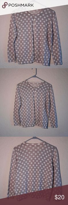 FINAL PRICE J. Crew Polka Dot Cardigan Sweater Great Condition. Size M. (Fits Small) Reasonable offers accepted :D If you have any questions please leave a comment :) Polka Dot Cardigan Sweater J. Crew Sweaters Cardigans