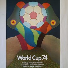 orld Cup 1974 in West Germany! What a gem of a poster to advertise that legendary event. Have a marvellous Saturday :) Football Things, Germany, The Originals, Gem, Poster, Deutsch, Jewels, Gemstone, Gemstones