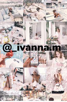 Обработка Инстаграмм розовый белый Иванна фото в Инстаграм