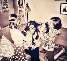 My littles... Getting me ready