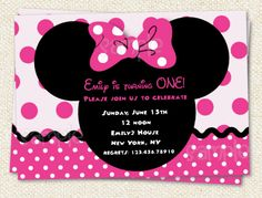 Minnie Mouse Inspired Custom Birthday Party by LollipopPrints, $10.00