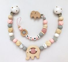 Newborn Toys, Baby Toys, Diy Bebe, Eco Friendly Toys, Dummy Clips, Pacifier Holder, Unique Baby Gifts, Wood Bead Garland, Baby Teethers