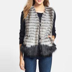 Rank & Style - Kristen Blake Two-Tone Faux Fur Vest #rankandstyle