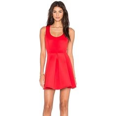 Lovers + Friends x REVOLVE Flawless Fit & Flare Dress (95 CAD) ❤ liked on Polyvore featuring dresses, fit flare dress, lovers friends dresses, red dress, red fit and flare dress and fit and flare dress