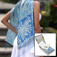 Sky Blue Blossom from @NOVICA, They help #artisans succeed worldwide.