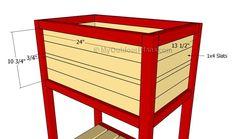 Wooden Cooler Plans