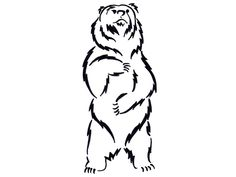 The final grizzly bear tattoo I came up with for my boyfriend. He's going to get this one he tells me. Grizzly Bear Drawing, Grizzly Bear Tattoos, Tribal Bear, Arte Tribal, Body Art Tattoos, I Tattoo, Bear Stencil, Bear Sketch, Drawing Clipart
