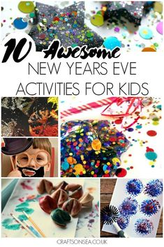 The most fun New Years Eve activities for kids, sensory play ideas, painting, free photobooth printables and more!