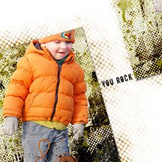 Awesome Boy Layout You Rock  Scrapbook Page