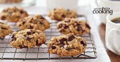Peanut Butter Oatmeal Chocolate Chunk Cookies #recipe